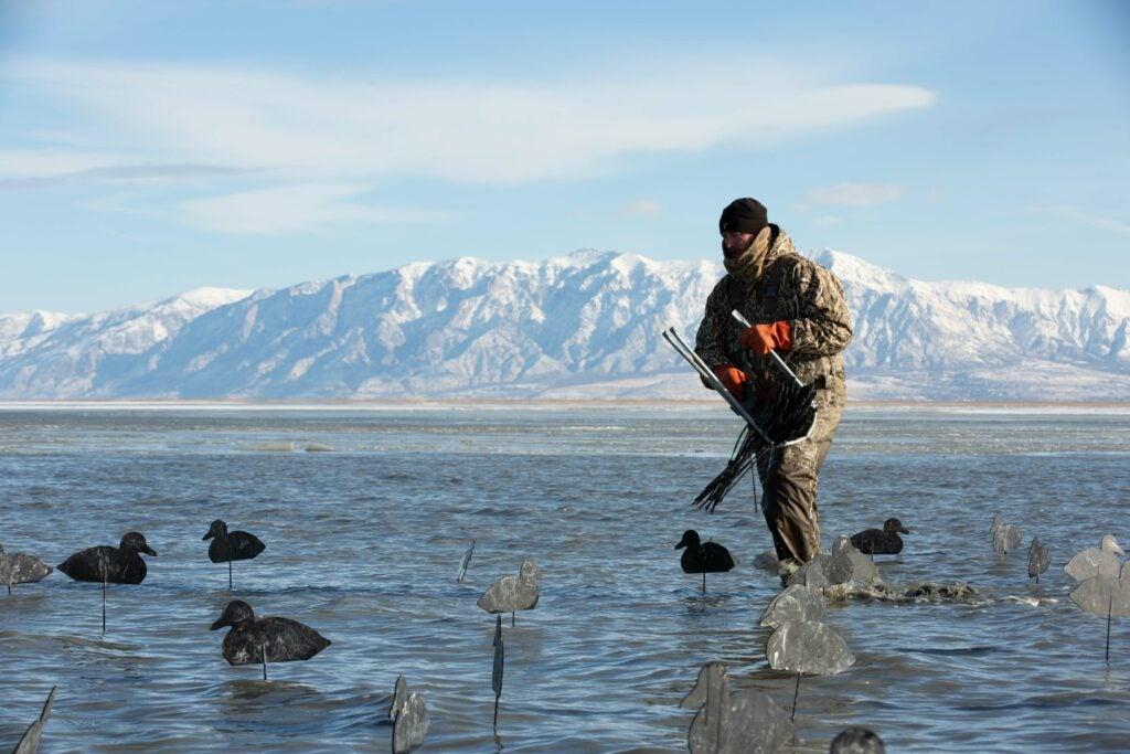 Hunting ducks on Great Salt Lake