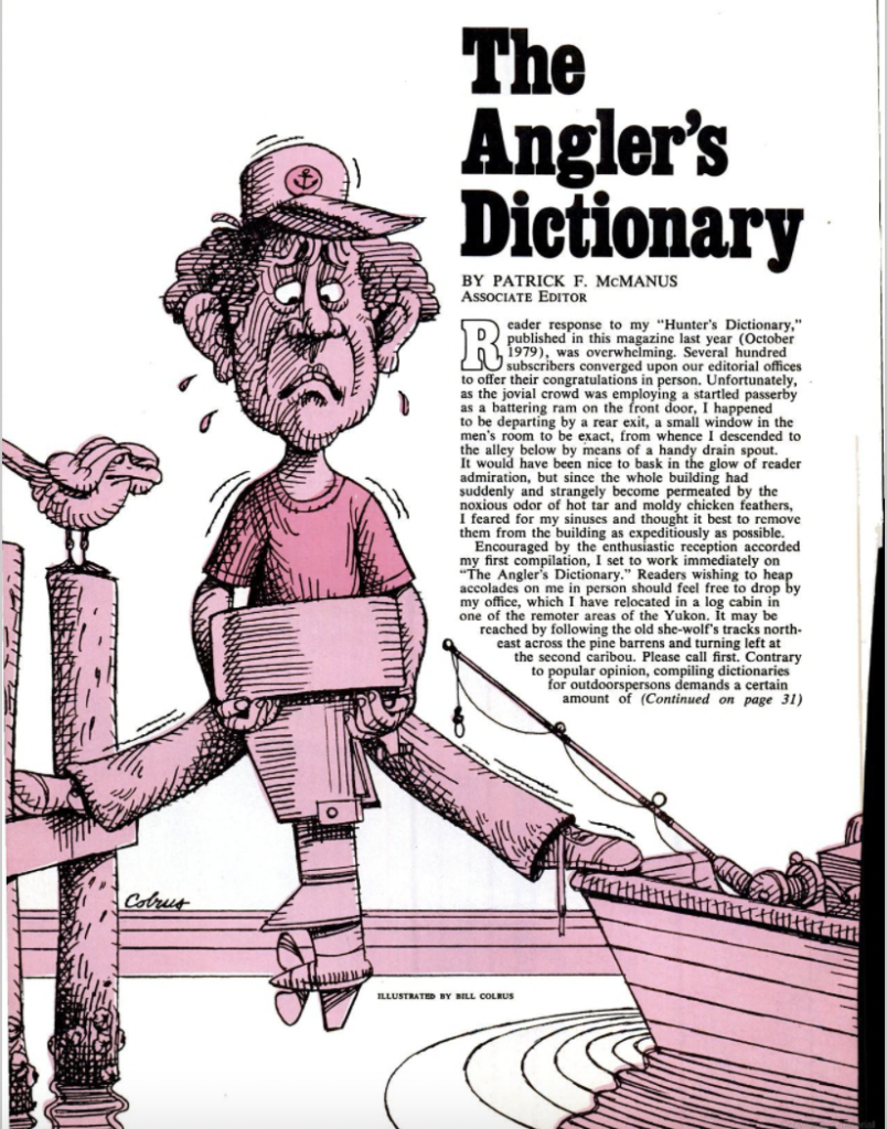 The angler's dictionary