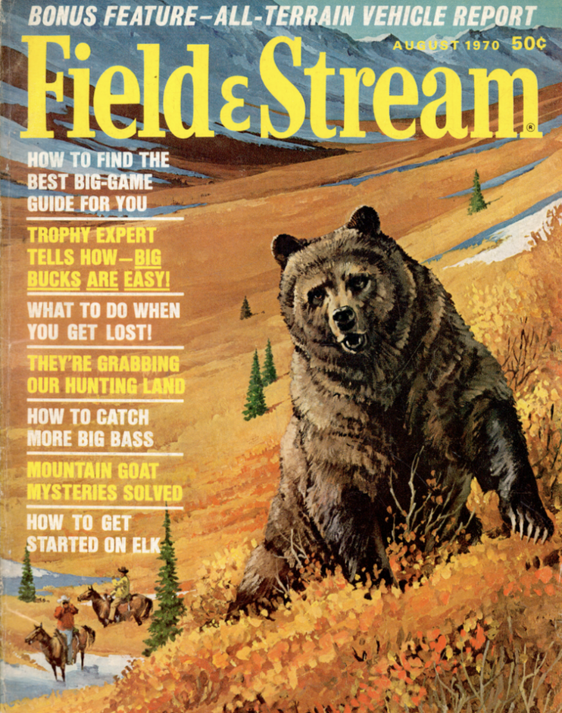 August 1970 cover of Field & Stream magazine