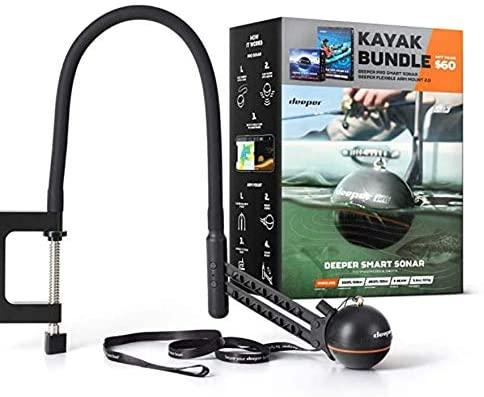 Deeper Smart Sonar Pro Kayak Bundle is the best budget fish finder for kayaks