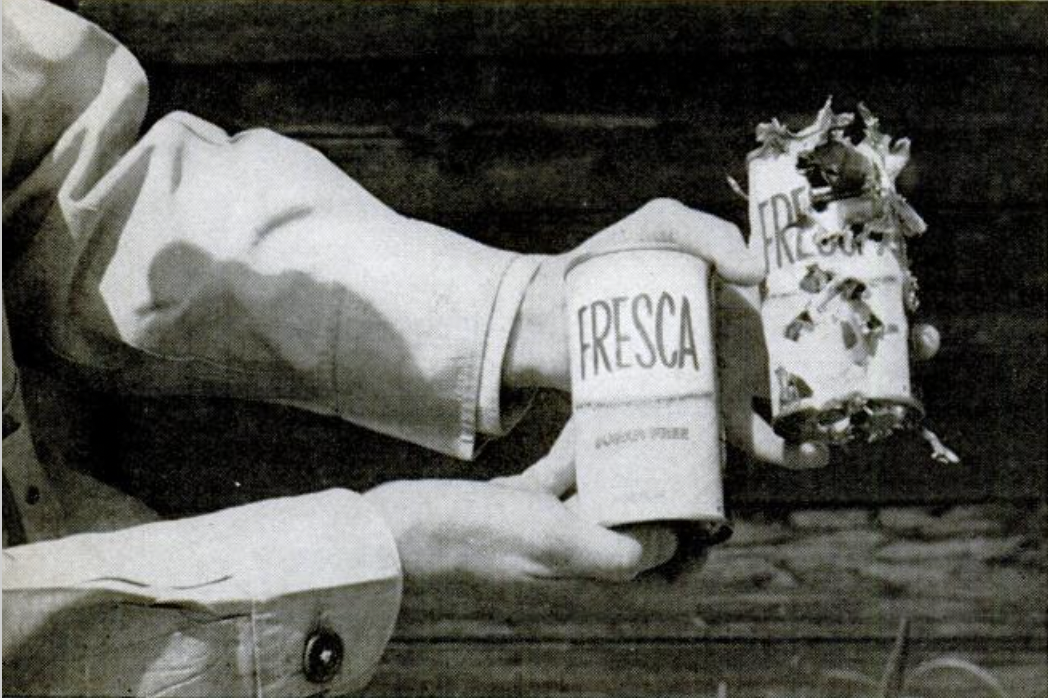 Fresca can used as a target for shooting