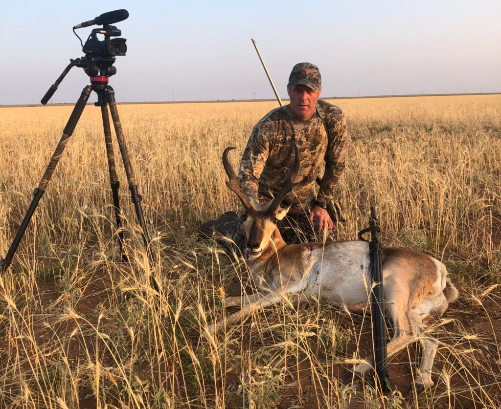Clay Smith and pronghorn