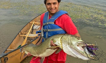 21-Year-Old Minneapolis Angler Catches Massive 54.5-inch Muskie in City Lake