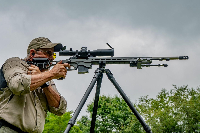 Long Range Rifle on Tripod