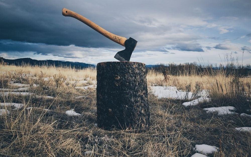 A wood-splitting axe.