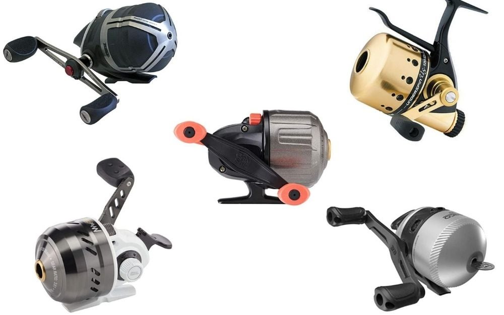 5 different spinning reels