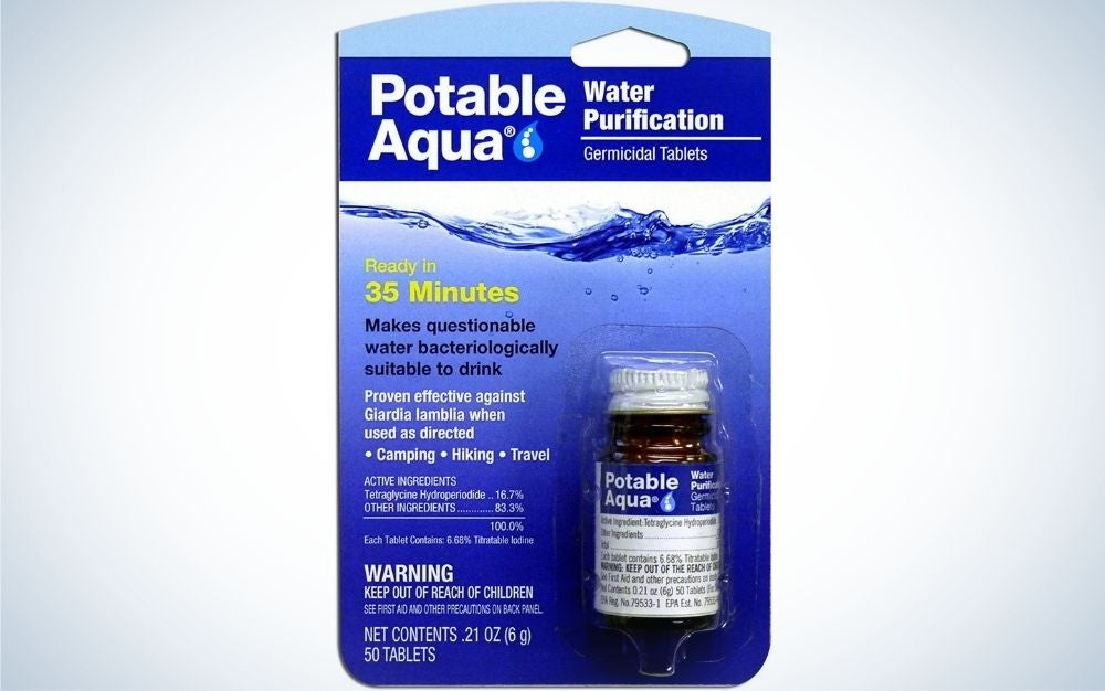 Portable Aqua Iodine Tablets is our pick for best water purifiers.
