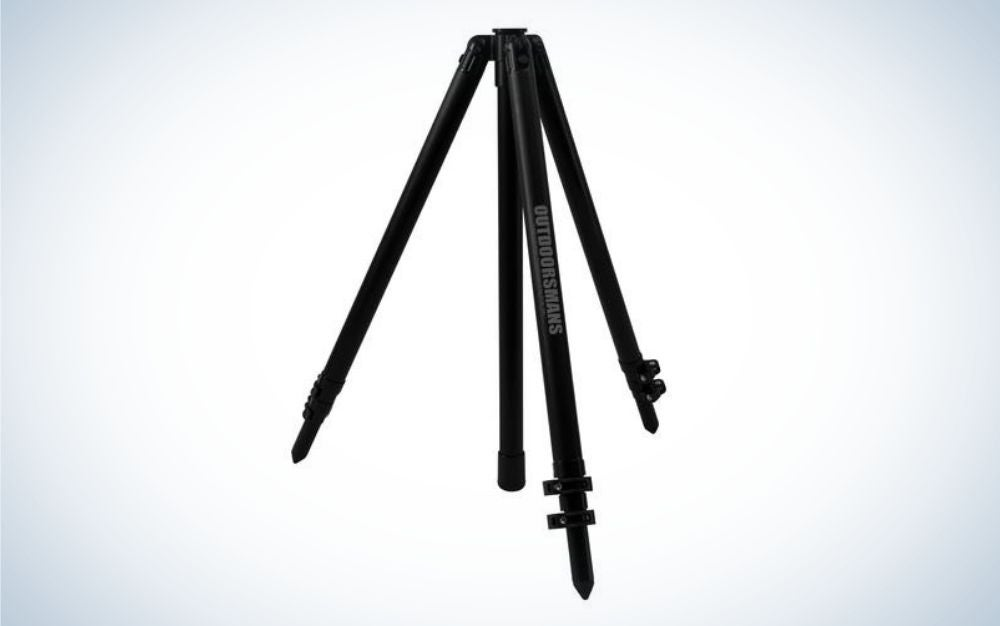 Outdoorsmans Tall Tripod is our pick for best hunting tripods.