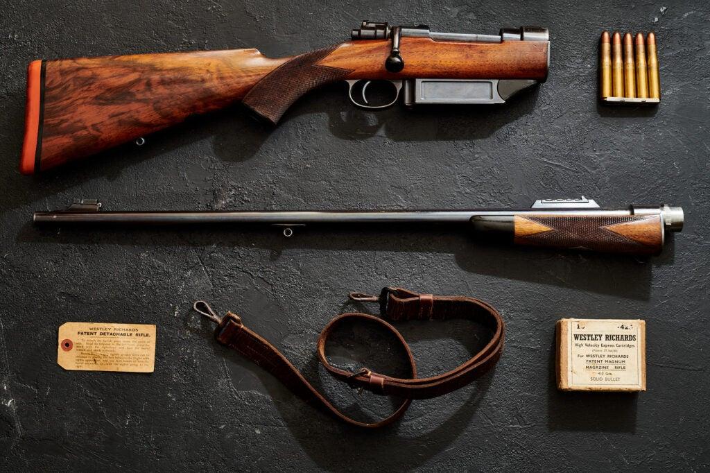Westley Richards detachable rifle.