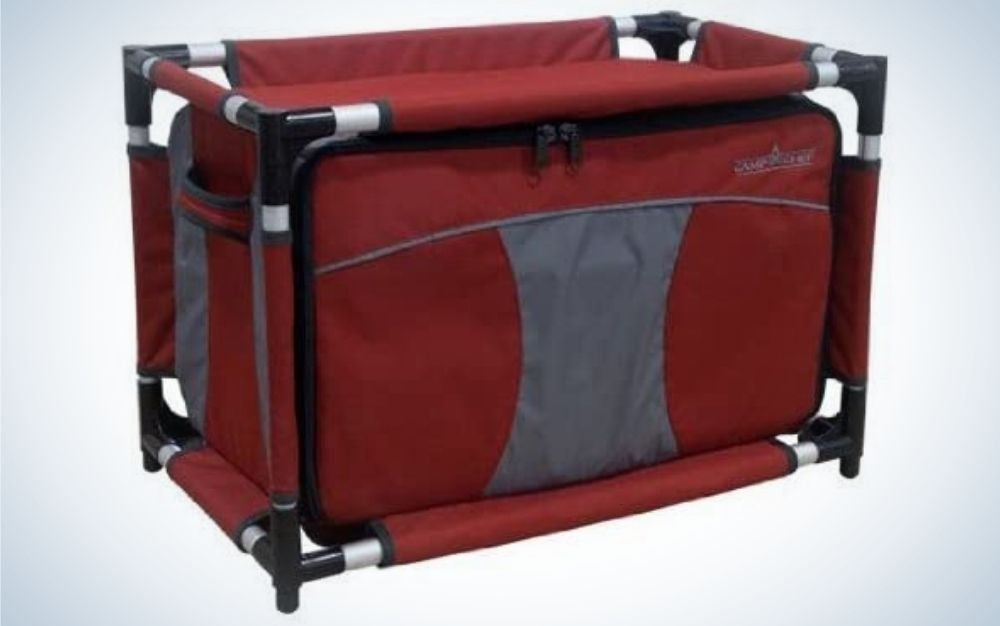 Camp Chef Sherpa is our pick for the best camping tables.