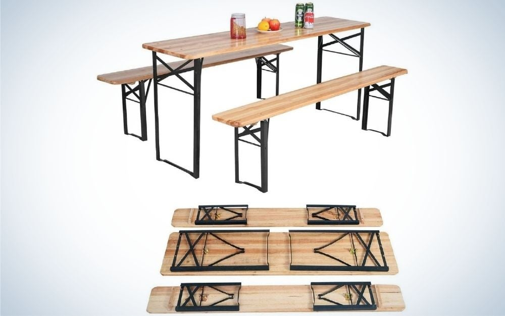 Happygrill is our pick for best camping tables.
