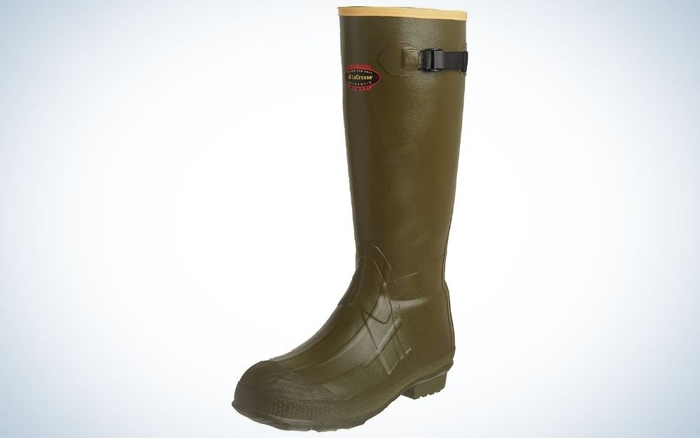 Od green, rubber hunting boot