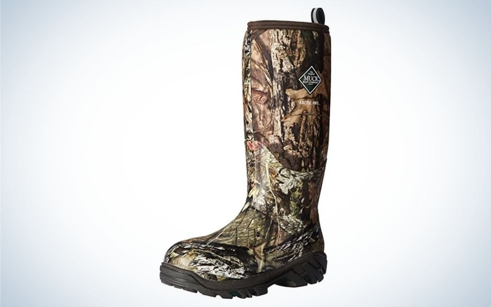 Mossy oak country arctic rubber boot