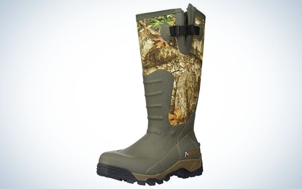 Realtree edge, knee high, rubber hunting boot