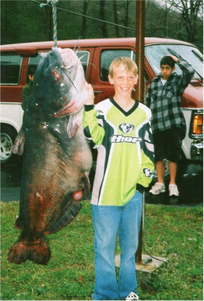 Zachery Lovelady's world record catfish