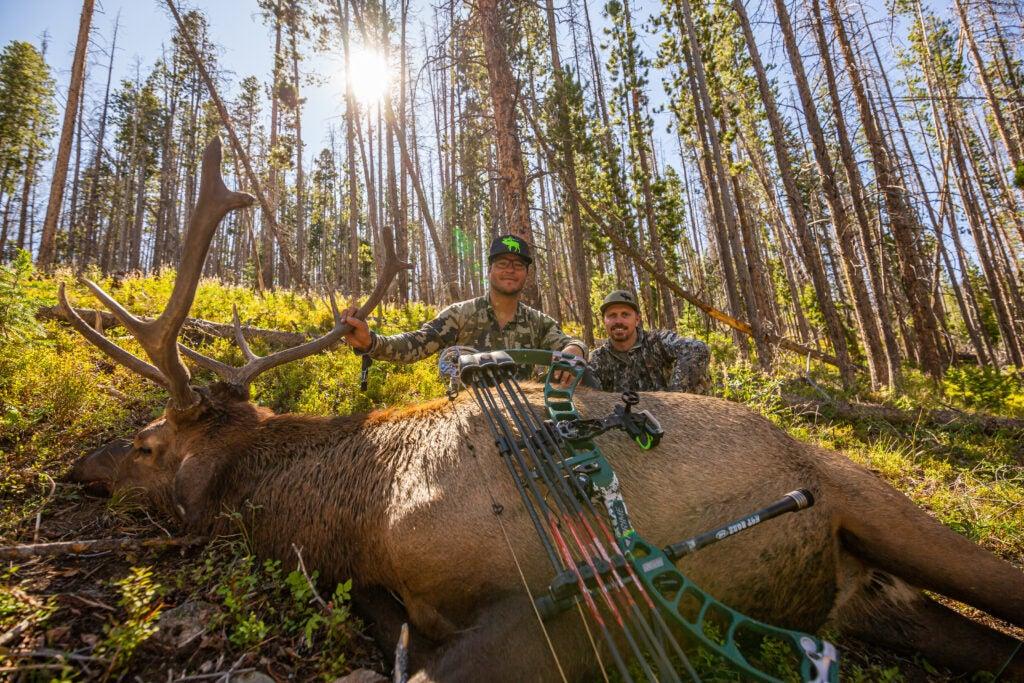 J.C. Navarro with public land elk