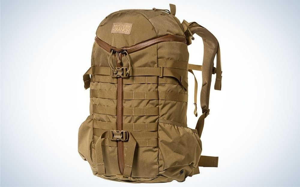 This Mystery Ranch backpack is our pick for best internal frame backpack.
