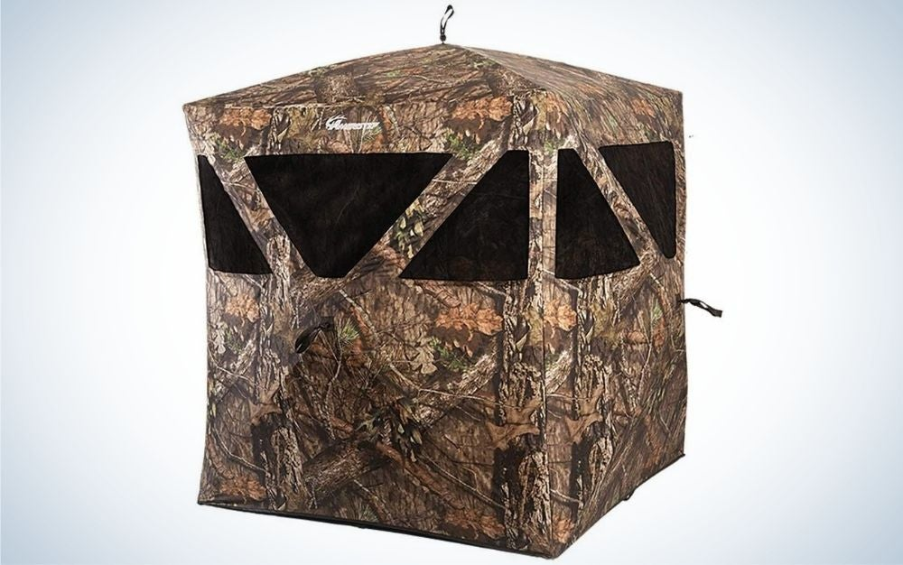 Ameristep is our pick for the best hunting blinds.