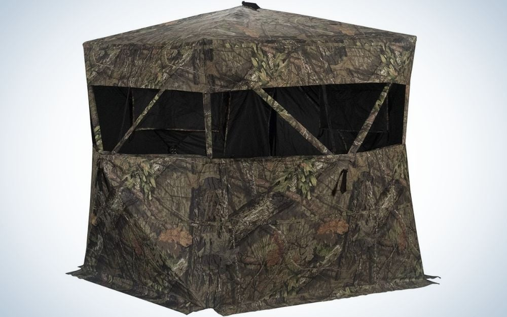 Rhino R150 is our pick for the best hunting blinds.
