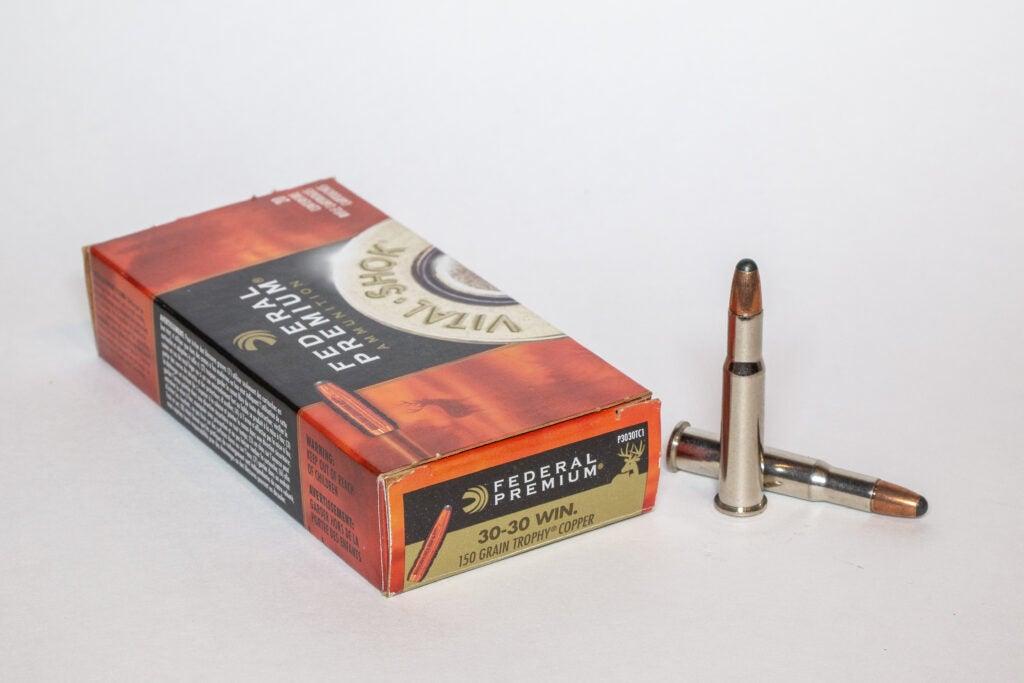 Box of Federal .30-30 ammunition.