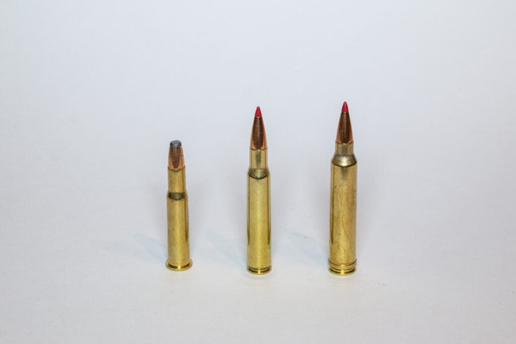 the .30-30 win. the .30/06 and the .300 Win Mag.