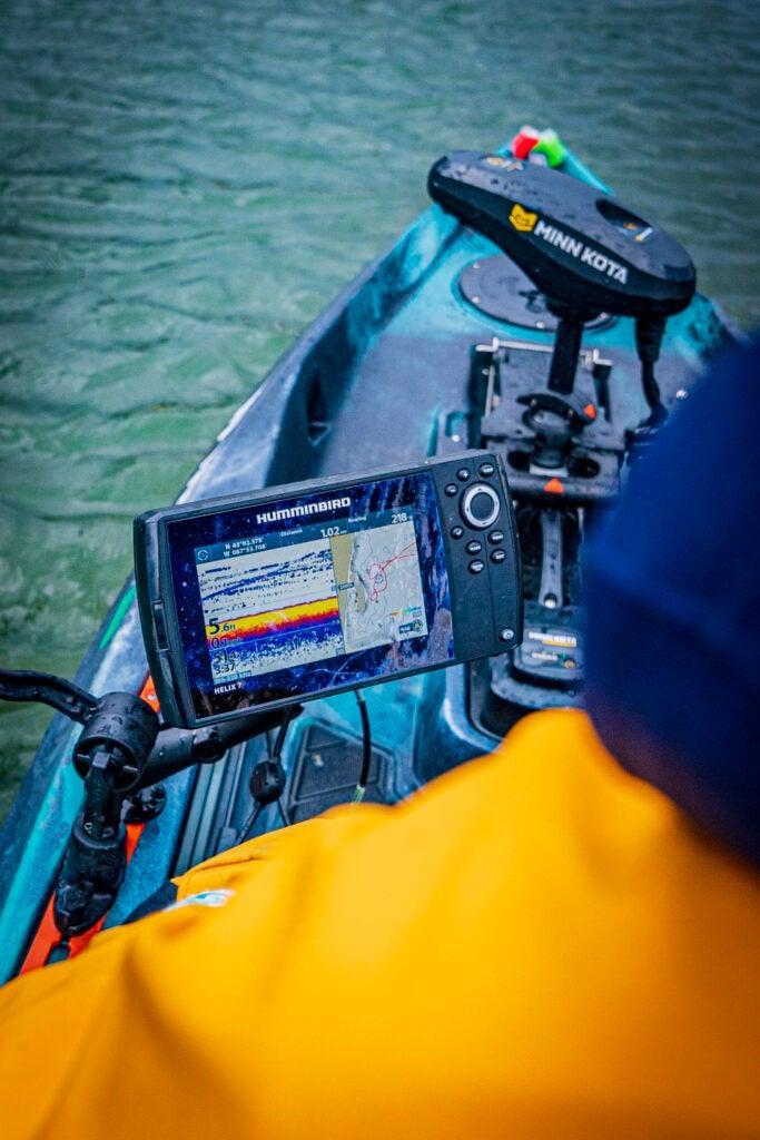fish finder on kayak
