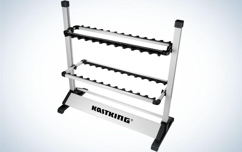 KastKing is the best fishing rod holder for garages.