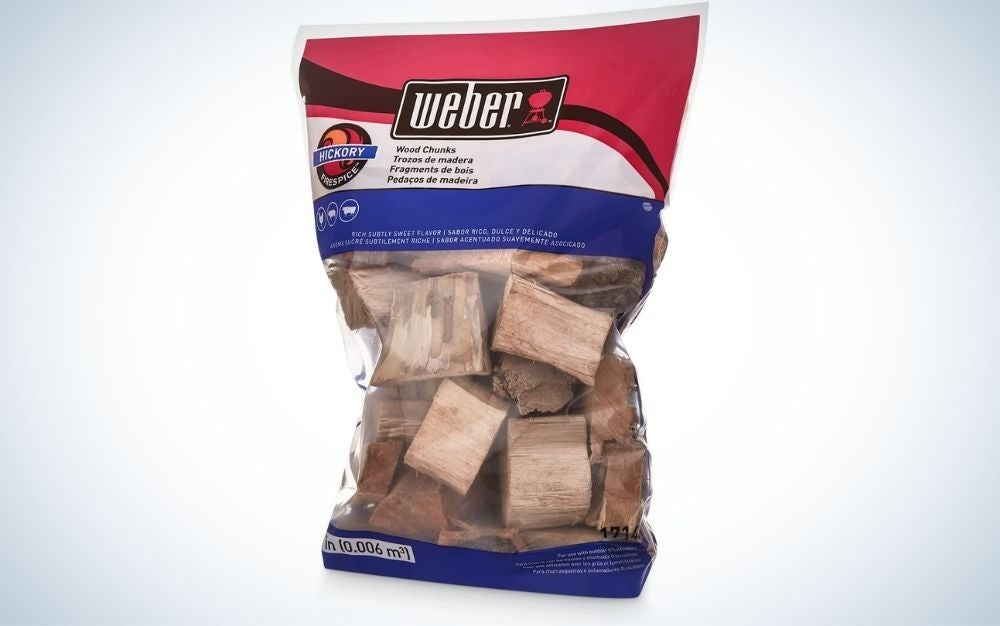 Weber wood chucks is the best wood for grilling steak.