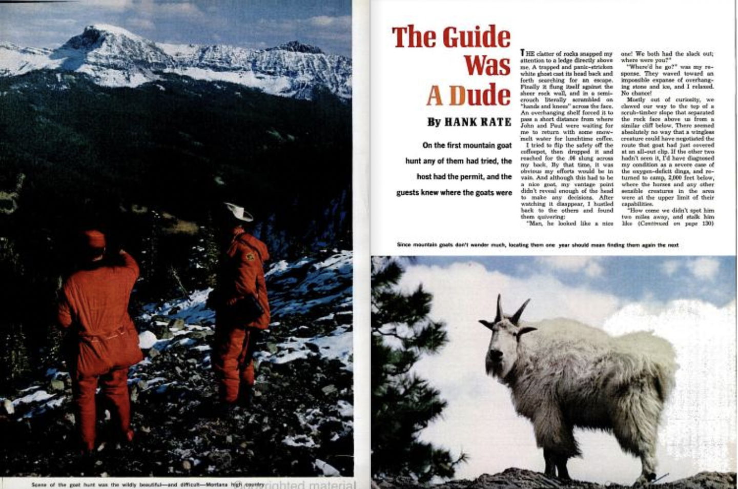mountain goat hunting adventure in field & stream