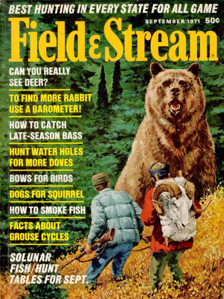 The September 1971 cover of field & Stream