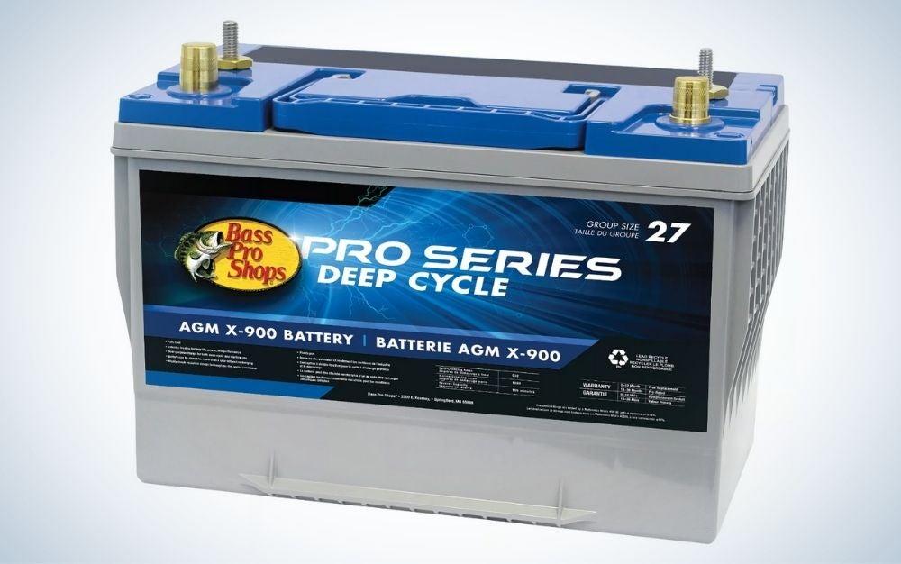 BassPro Shops Pro Series X900 is the best group 27 trolling motor battery.