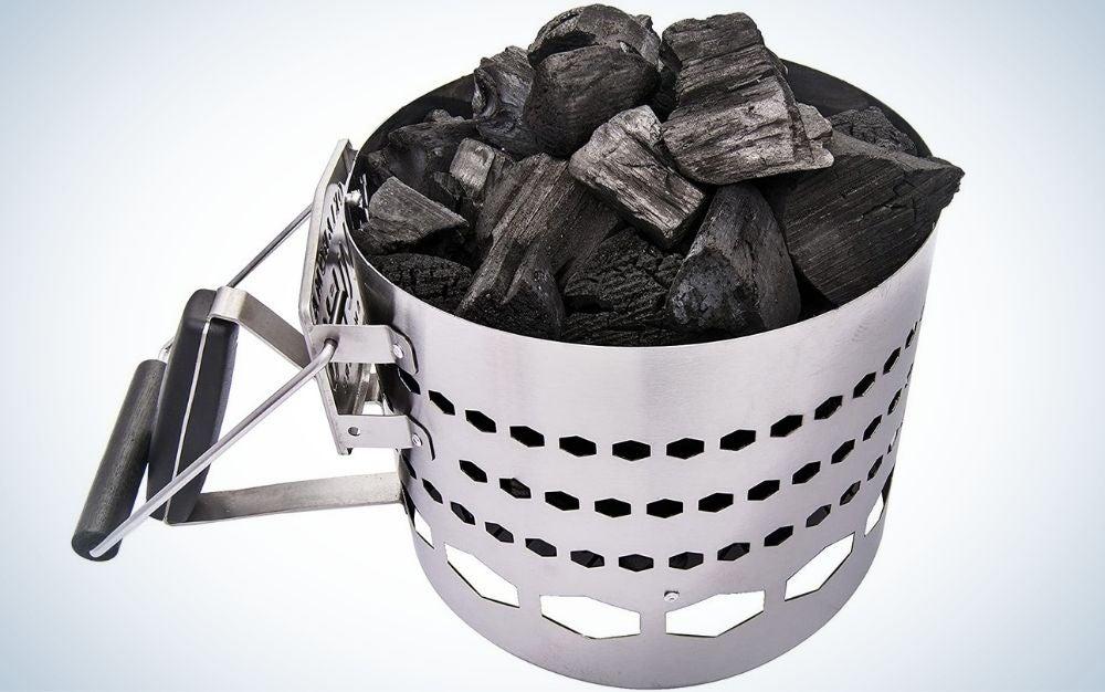Oklahoma Joe's chimney is the best charcoal chimney.