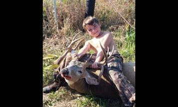 8-Year-Old Kills Awesome Triple Drop-Tine Buck in Iowa