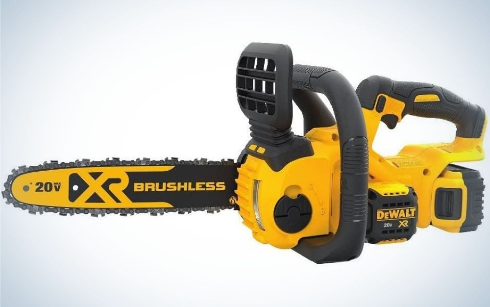 The Dewalt saw is the best electric chainsaw.
