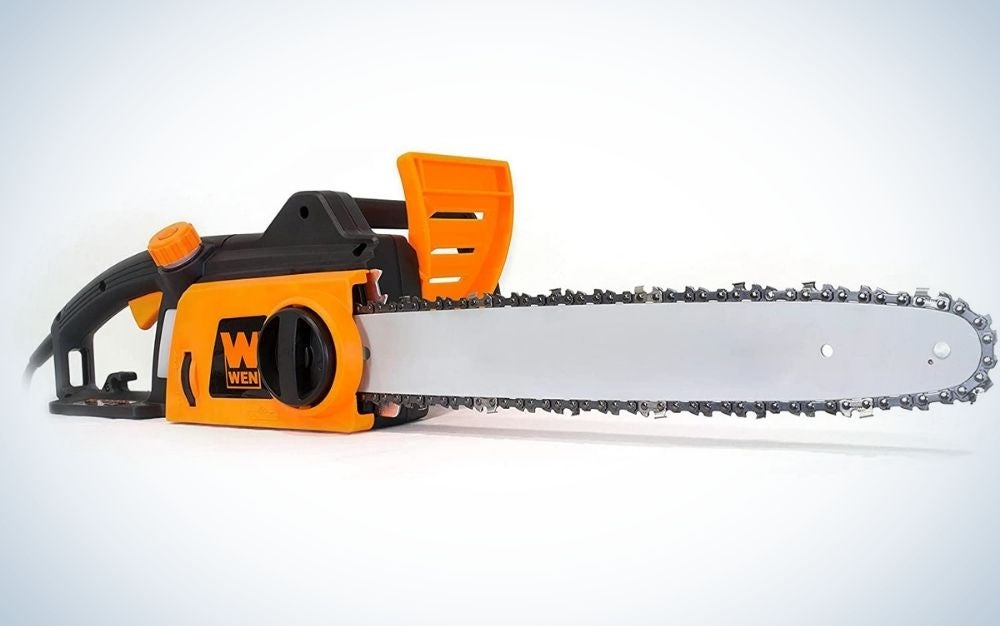 The WEN saw is the best electric chainsaw.