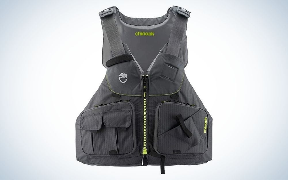 NRS Chinook Fishing Life Vest is the best kayak life jacket.