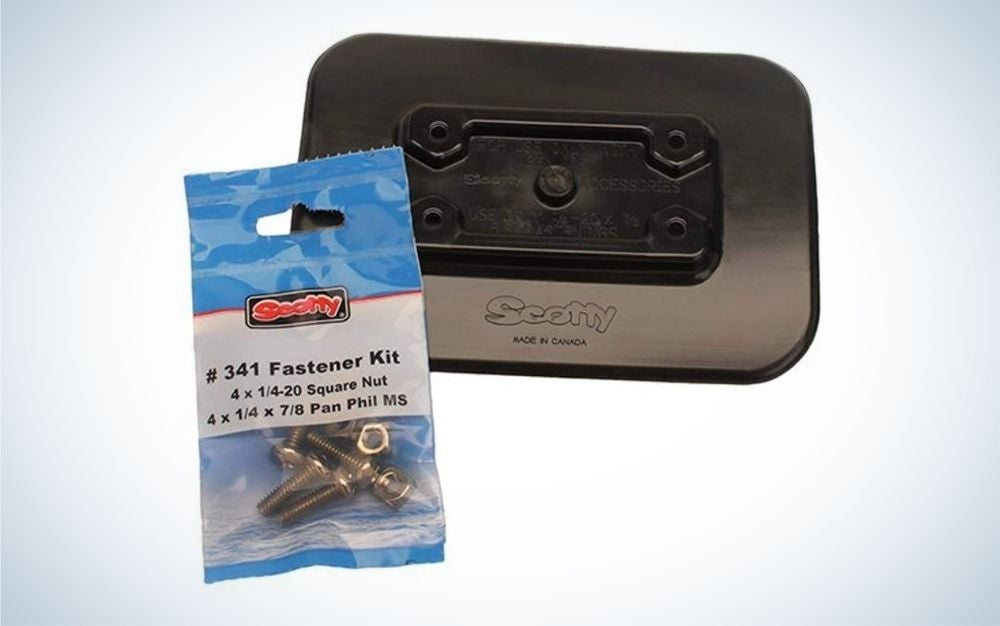 Scotty #341 Adhesive Mount is the best accessory for inflatable kayak.