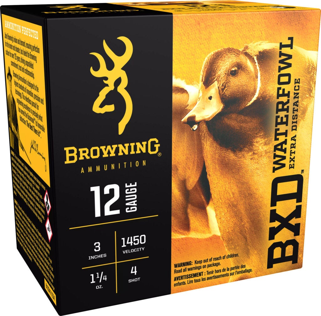 Browning BXD ammunition for duck hunting