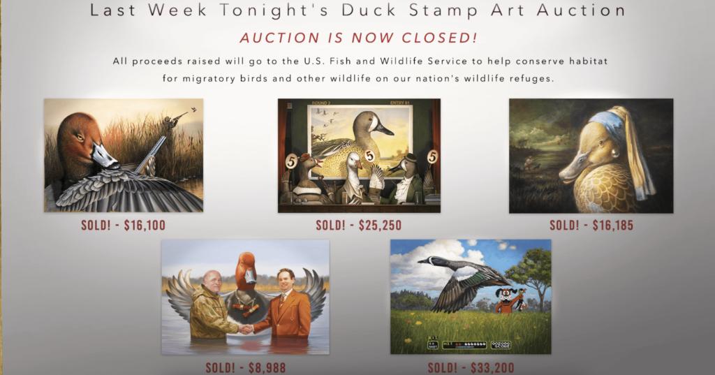 John Oliver Duck Stamps