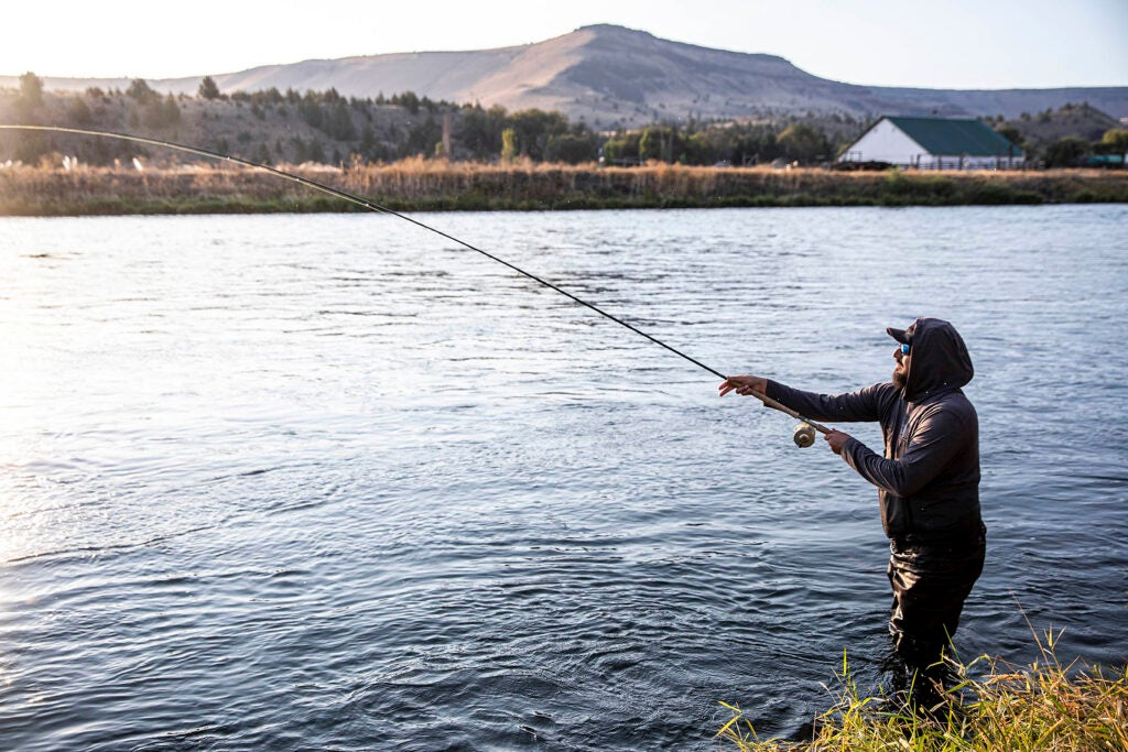 Steelhead fisherman on the Deschutes River
