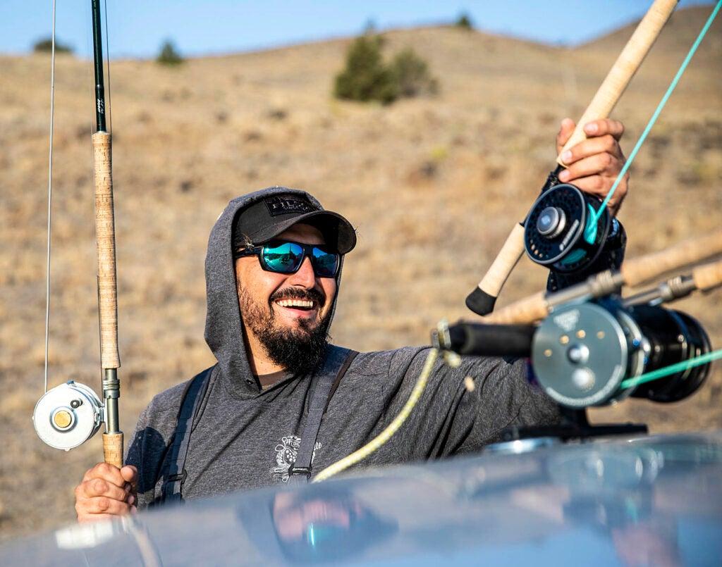 Steelhead fisherman on the Deschutes Rive