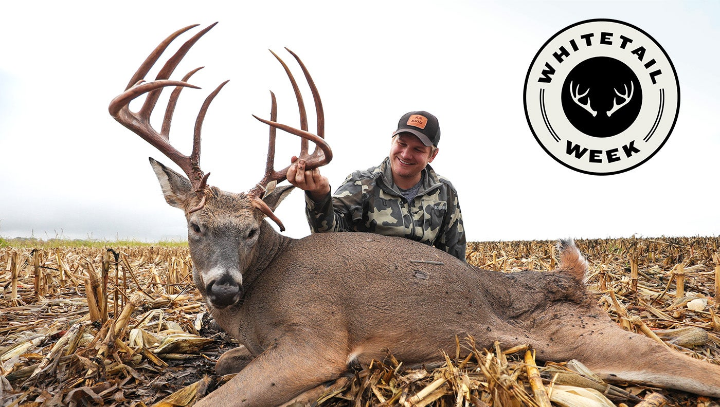 Brandon Wikman with whitetail buck